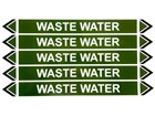 Waste water flow marker label.