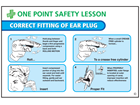 Correct fitting of ear plug sign