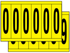 Multipurpose number set, 90mm x 38mm