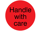 Handle with care packaging label