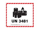 UN3481 lithium ion battery label