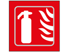 Fire extinguisher symbol sign.