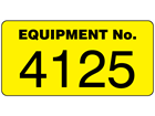 Assetmark jumbo serial number label, 50mm x 100mm