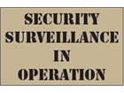 Security surveillance in operation heavy duty stencil