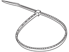 Plain nylon cable ties, clear