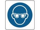Wear eye protection symbol label.