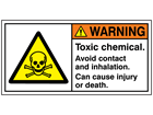 Warning toxic chemical label