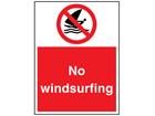 No windsurfing sign.