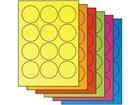 Fluorescent paper labels, 60mm diameter