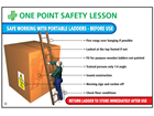 Safe working with portable ladders sign