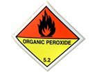 Organic peroxide 5.2 hazard warning diamond sign