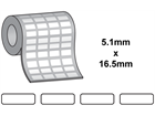 Tamper evident labels, 5.1mm x 16.5mm