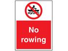 No rowing sign.