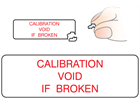 Calibration void if broken label