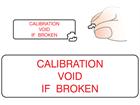 Calibration void if broken label