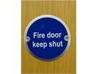 Fire door keep shut symbol door sign.