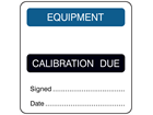 Equipment, calibration due combination label.