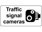 Traffic signal cameras sign
