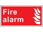 Fire alarm symbol and text safety sign.