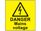 Danger mains voltage label