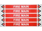 Fire main flow marker label.
