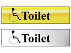 Disabled toilets metal doorplate