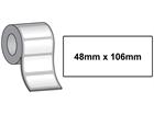 Thermal printer labels, self adhesive paper, 48mm x 106mm.