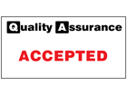 Accepted quality assurance sign