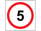 5 mph speed limit sign.
