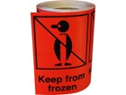 Keep from frozen shipping label.