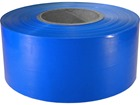Blue plain barrier tape.