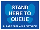 Stand here to queue