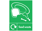 Food waste WRAP recycling signs