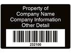 Scanmark barcode label (text on colour), 32mm x 50mm