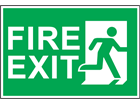 Fire exit, symbol facing right safety sign.