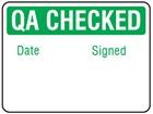 Jumbo QA Checked label - 250 pack