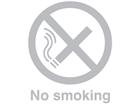 No smoking window safety decal