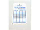 Fork lift inspection record tag.