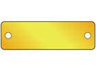Blank brass nameplate, 15mm x 50mm