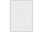 White polyester laser labels, 20mm diameter
