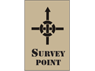 Survey point heavy duty stencil