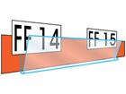 Ticket holder, 100mm lengths