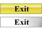 Exit metal doorplate