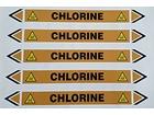 Chlorine flow marker label.