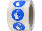 Hand protection symbol labels.
