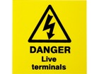 Danger live terminals label