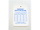 Equipment inspection record tag.