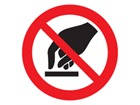 Do not touch symbol label