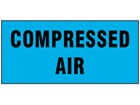 Compressed air pipeline identification tape.