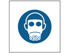 Wear respirator symbol safety sign.